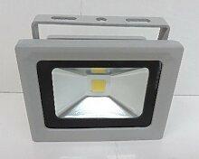 Projecteur extérieur LED 10W alu gris 115X85mm