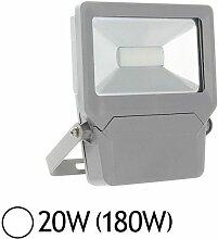 Projecteur extérieur LED 20W (180W) IP65 Finition