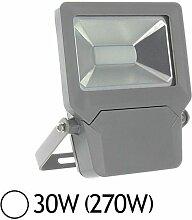 Projecteur extérieur LED 30W (270W) IP65 Finition