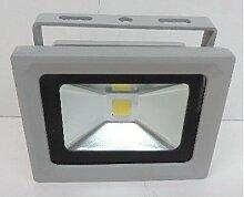 Projecteur extérieur LED 30W alu gris 115X85mm