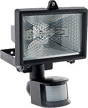 Projecteur halogène 120W Noir avec détecteur -