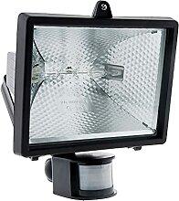 Projecteur halogène 400W Noir avec détecteur -