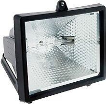 Projecteur halogène 400W Noir sans détecteur -