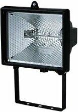 Projecteur halogène carré 400w noir