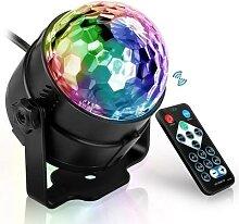 Projecteur Laser boule Disco, lumière sonore,