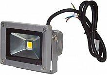 Projecteur LED 10W blanc chaud IP65 extérieur