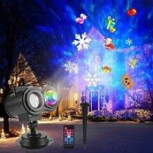 Projecteur LED 16 diapositives 2 en 1 extérieur /