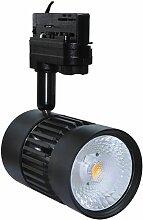 Projecteur LED 25W pour rail 3 allumages noir