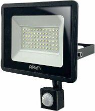 Projecteur LED 30W Noir détecteur de mouvement |