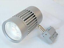 Projecteur LED 45W pour rail 3 allumages gris