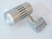 Projecteur LED 8W pour rail 3 allumages gris