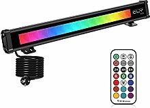 Projecteur LED Couleur 42W, CLY RGB Spot LED