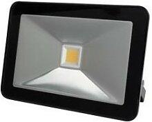 Projecteur led design - 10 w, blanc chaud - noir