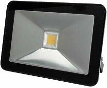 Projecteur led design - 20 w, blanc chaud - noir