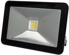 Projecteur led design - 30 w, blanc neutre - noir