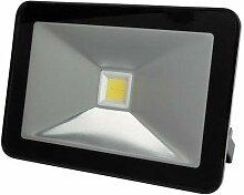 Projecteur led design - 50 w, blanc neutre - noir