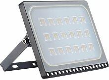 Projecteur LED Extérieur 100W,10000LM Blanc Chaud