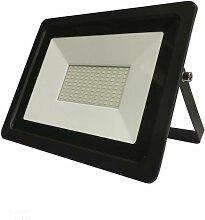 Projecteur LED Extérieur 100W IP65 Noir - Blanc