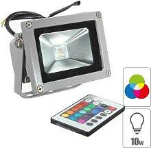 Projecteur led exterieur 10w RGB étanche