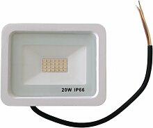 Projecteur LED Extérieur 20W IP66 BLANC - Blanc
