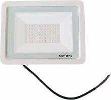 Projecteur LED Extérieur 50W IP66 BLANC - Blanc