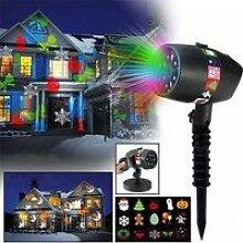 Projecteur LED extérieur flocon neige Noël