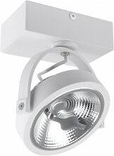 Projecteur LED Fer 01 Blanc Sklum