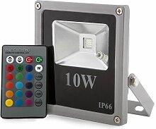 Projecteur LED IP65 10W RGB Télécommande | RVB