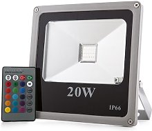 Projecteur LED IP65 20W RGB Télécommande | RVB