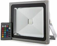 Projecteur LED IP65 30W RGB Télécommande | RVB