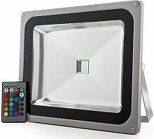 Projecteur LED IP65 50W RGB Télécommande | RVB