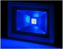 Projecteur LED IP65 Brico 10W 850Lm 30.000H Bleu |