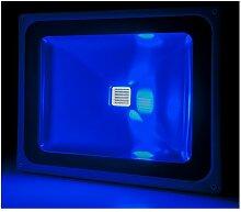 Projecteur LED IP65 Brico 50W 4250Lm 30.000H Bleu
