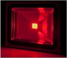 Projecteur LED IP65 Brico 50W 4250Lm 30.000H Rouge
