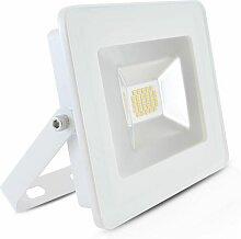 Projecteur Led Plat 20W (180W) IP65 Blanc jour