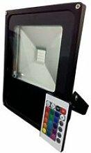 Projecteur led rgb 50w avec télécommande -