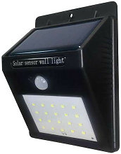 Projecteur LED Solaire Mural Noir 0,75W 110lm