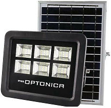 Projecteur LED Solaire Noir Équivalent 50W 800lm