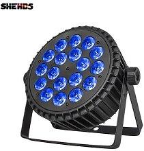 Projecteur lumineux professionnel DMX512 18x18W
