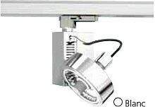Projecteur orientable blanc pour rail monophasé 3