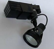 Projecteur orientable noir pour rail monophasé 3