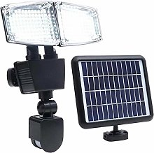 Projecteur solaire 2 têtes noir eclairage
