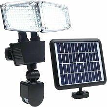 Projecteur solaire à 2 têtes DOUGLAS noir en