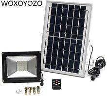 Projecteur solaire Led avec télécommande,
