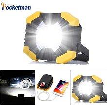 Projecteur solaire LED COB Rechargeable par USB