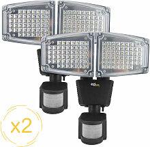 Projecteur solaire LED ® Solar pro 2 - Pack de 2