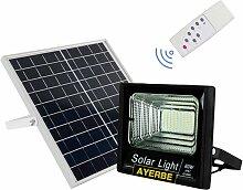 Projecteur solaire télécommandé 60W 100Leds