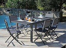 Proloisirs Table Jardin en Aluminium avec allonge
