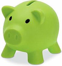 PromotionGift Tirelire Cochon en Plastique Vert