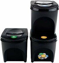Prosperplast Lot de 3 bacs de recyclage capacité